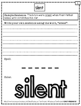 Spelling Intervention Workbook-EIGHTH GRADE Sight Words Book 2