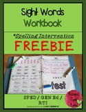 Spelling Intervention Workbook-FREEBIE