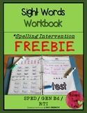 Spelling Intervention Workbook-FREEBIE