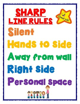 Sharp Line Rules Poster