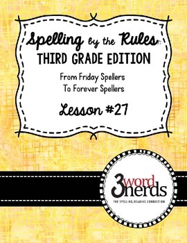 Spelling - Irregular ir and ur - Third Grade