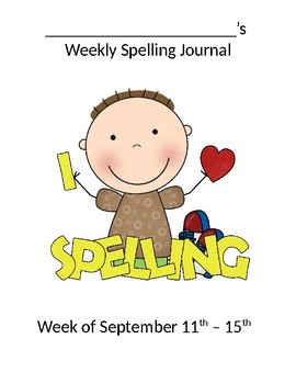 Spelling Journal