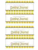 Spelling Journal Labels