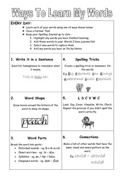 Spelling Journal - complete pack