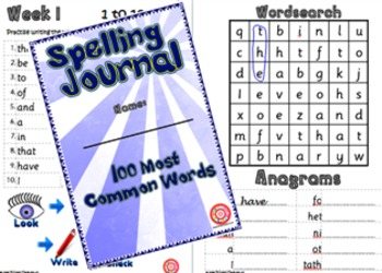 Spelling Journals for Ages 9 to 11 - Elementary-Class.com