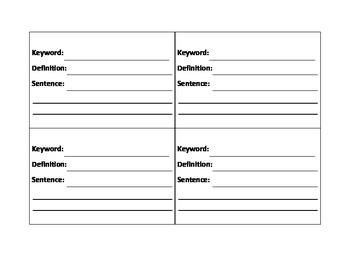 Spelling words- key word rings