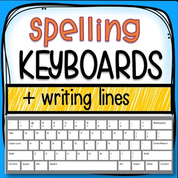 Spelling Keyboards (Different Styles and Writing Lines)