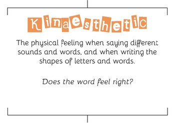 Spelling Knowledge Posters