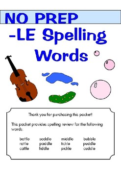 Spelling - LE Words