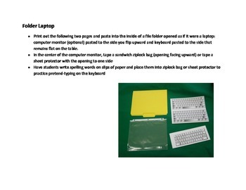 Spelling: iPad File Folder (great for practicing in center