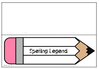 Spelling Legends: Lanyards, Place Cards and Notes