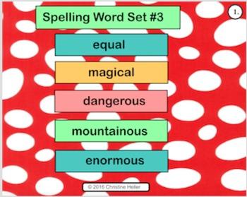 Spelling Lesson 3