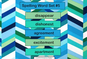 Spelling Lesson 5