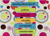 Spelling Lesson 7