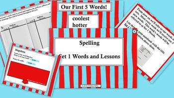 Spelling Lessons Week 1-5 Bundle