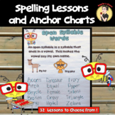 Spelling Lessons and Anchor Charts For the Year