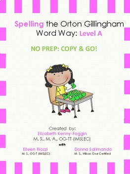 Orton Gillingham Spelling Series: Level A  -  Word Study Units