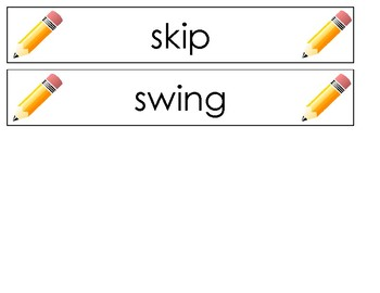 Pocket Chart Spelling August (Weeks 1 and 2)