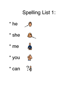 Spelling List 1