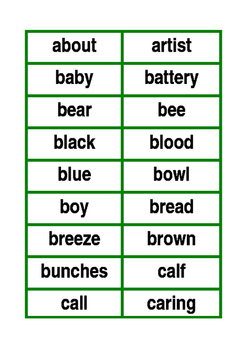Spelling List 2 Flash Cards