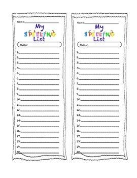 Spelling List