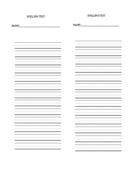 Spelling Test List