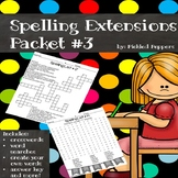 Spelling Lists Extensions #3--3rd Grade--Common Core Standards