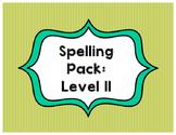 Spelling List Pack: Level II