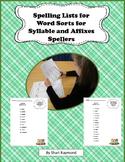 Spelling List for Green Sorts 1-56