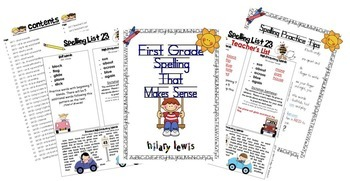Spelling Lists That Make Sense Bundle-First and Second Grade
