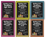 Spelling Lists Vocabulary and High Frequency Words-Grade 2