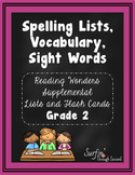 Spelling Lists, Vocabulary and High Frequency Words - Wond