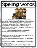 Spelling Lists Week 1