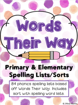 Spelling Lists: Words Their Way