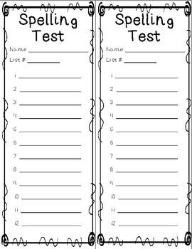 Spelling Lists - Year Long Bundle