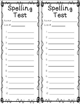 Spelling Lists - Year Long Bundle