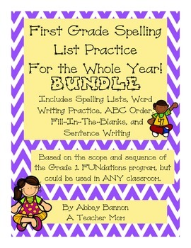 Spelling Lists and Practice - BUNDLE - For the Whole Year!