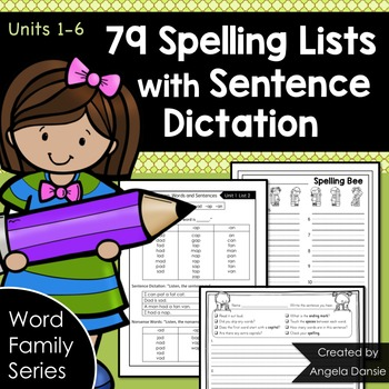 Word Family Spelling Lists with Sentence Dictation