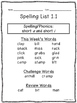 Spelling Lists for 3rd Grade Reading Wonders