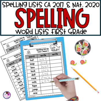 Spelling Lists for Benchmark Advance First Grade