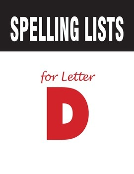Spelling Lists for Consonant D