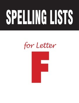Spelling Lists for Consonant F