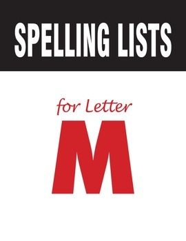 Spelling Lists for Consonant M