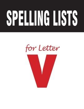 Spelling Lists for Consonant V