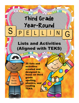 Spelling Lists for Third Grade TEKS