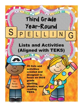 Spelling Lists for Third Grade TEKS