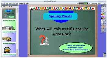 Interactive Spelling Lists for Year with Activities