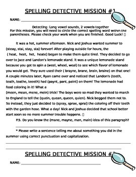 Spelling Lists for the Entire Year