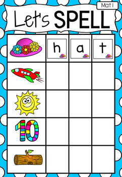 Spelling Literacy Center Activity - Let's Spell CVC words - Short Vowels