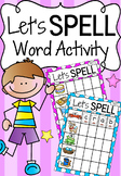 Spelling Literacy Center Activity - Let's Spell CVCC and CCVC words